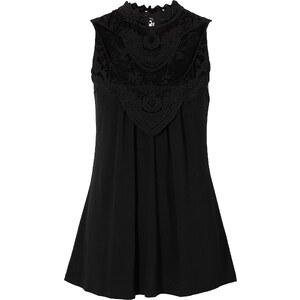 BODYFLIRT Shirtbluse ohne Ärmel in schwarz für Damen von bonprix
