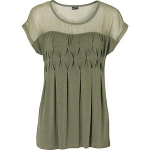BODYFLIRT Shirt kurzer Arm in grün (Rundhals) für Damen von bonprix