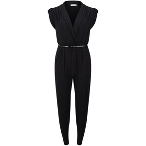LOVE Women's Jersey Cross Bust Jumpsuit - Black