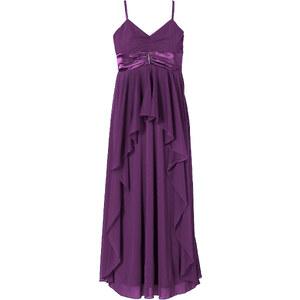 BODYFLIRT Abendkleid ohne Ärmel in lila (V-Ausschnitt) von bonprix