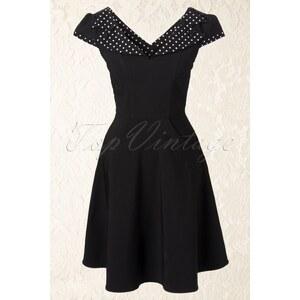 Bunny 50s Evie swing dress in black white polka dot