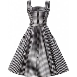 Bunny 50s Chantal swing dress Black Gingham