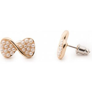 From Paris with Love! Pearly the twisted petit bow! Pearl Bow Earstuds Gold