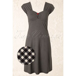 King Louie 50s Heidi Dress in Black and White