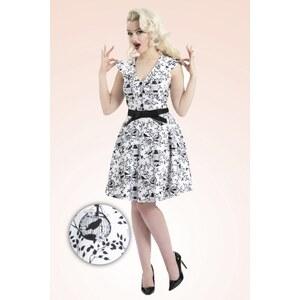 Vixen 50s Vintage Siena Swing Dress in White