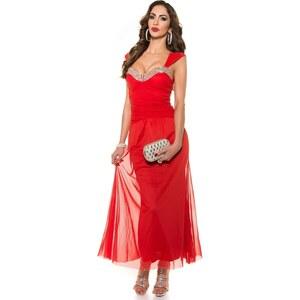 67de382e4a87 Strikingstyle Večerné šaty Koucla   červené - Glami.sk
