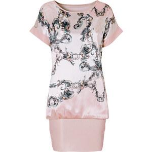 BODYFLIRT Shirtkleid/Sommerkleid kurzer Arm in beige (Rundhals) von bonprix