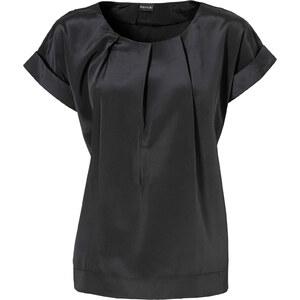 BODYFLIRT Bluse kurzer Arm in schwarz (Rundhals) von bonprix