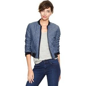 Gap Quilted Varsity Jacket - Indigo