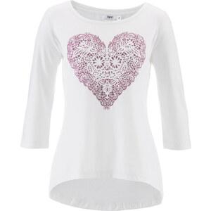 bpc bonprix collection Fokuhila-Shirt, 3/4-Arm in weiß für Damen von bonprix