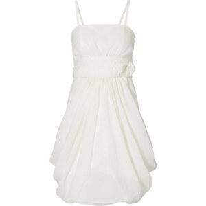 BODYFLIRT Kleid figurbetont in weiß von bonprix