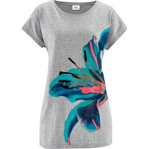 bpc bonprix collection Bigshirt kurzer Arm figurumspielend in grau (Rundhals) für Damen von bonprix