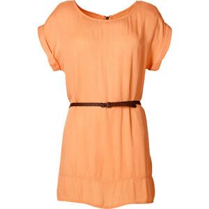 RAINBOW Long-Tunika kurzer Arm in orange für Damen von bonprix