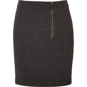 Burberry Brit Wool-Cotton Stretch Skirt in Dark Grey