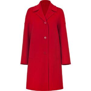 Michael Kors Crimson Red Raglan Sleeve Wool Coat