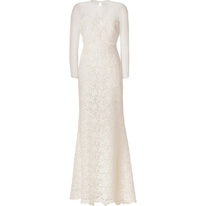 Valentino Ivory Lace Silk/Cotton Gown