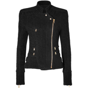 Balmain Structural Knit Jacket in Black