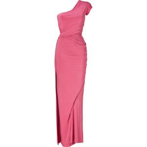 Donna Karan New York Rose Quarz One Shoulder Draped Jersey Gown