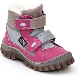5f702907a00e RAK Dievčenské zimné topánky Alaska - ružovo-šedé - Glami.sk