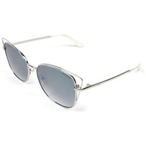 Lunettes de soleil guess gu 7528 10c m tal argent gris for Miroir gris argent