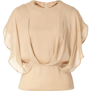 Etro Silk Flutter Sleeve Top