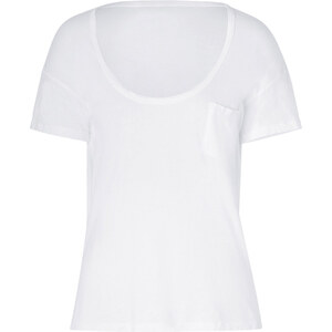 James Perse White Short Sleeve Scoop Neck Cotton T-Shirt