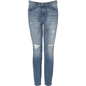 Current/Elliott Driftwood Destroyed Slouchy Stiletto Jeans