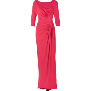 Elie Saab Draped Gown in Berry