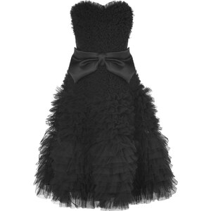 Viktor & Rolf Black Strapless Tulle Dress