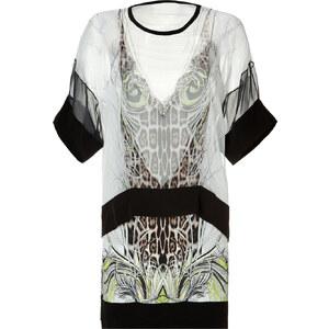 Roberto Cavalli Printed Silk Dress in Natural-Multi