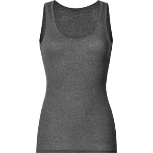 American Vintage Fine Cotton Ribbed Tank Top in Heather Charcoal