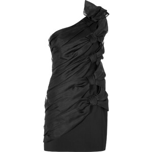Valentino Silk Bow Dress in Black