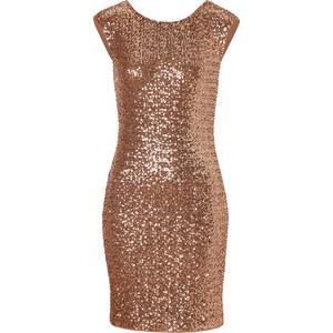 Steffen Schraut Sparkling Dress in Soft Caramel