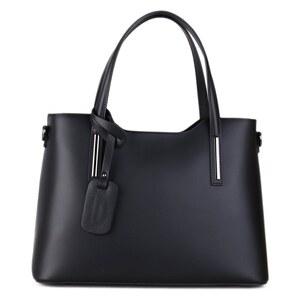 dfcfef11a2 ITALSKÉ Luxusné kožené kabelky přes rameno Carina černé - Glami.cz