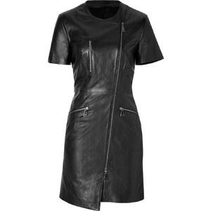 McQ Alexander McQueen Leather Dress in Black