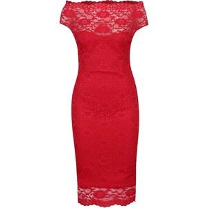 68e026796e16 Červené puzdrové čipkované šaty ZOOT - Glami.sk