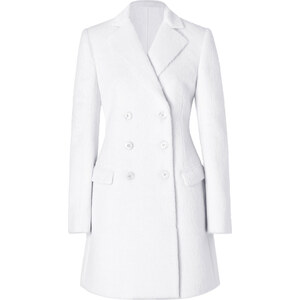 Salvatore Ferragamo Wool Coat in White