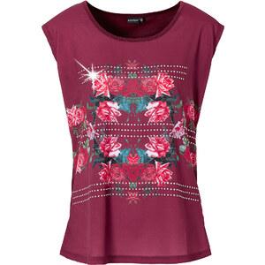 BODYFLIRT Shirt kurzer Arm figurumspielend in rot (Rundhals) für Damen von bonprix