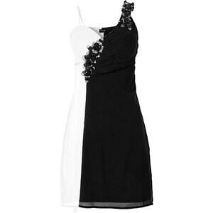 BODYFLIRT Kleid in schwarz (V-Ausschnitt) von bonprix