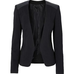 RAINBOW Blazer, Materialmix langarm in schwarz für Damen von bonprix
