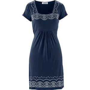 John Baner JEANSWEAR Shirt-Kleid/Sommerkleid kurzer Arm in blau von bonprix