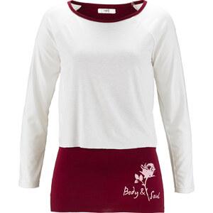 bpc bonprix collection Wellness-Shirt, 2 in 1 Optik in weiß für Damen von bonprix