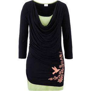 bpc bonprix collection 3/4 Arm Shirt im 2 in 1 Look in schwarz für Damen von bonprix