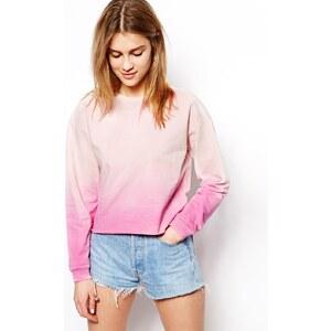 ASOS - Kurzes Sweatshirt in Batikoptik - Rosa 15,99 €