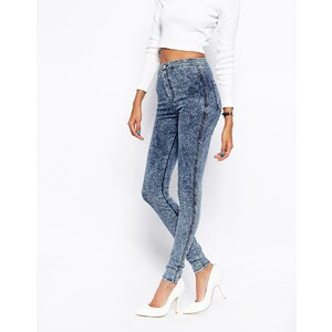 ASOS – Rivington – High-Waist-Denim-Jeggings in Jupiter-Acid-Waschung