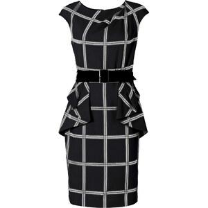 BODYFLIRT boutique Kleid/Sommerkleid kurzer Arm in schwarz von bonprix