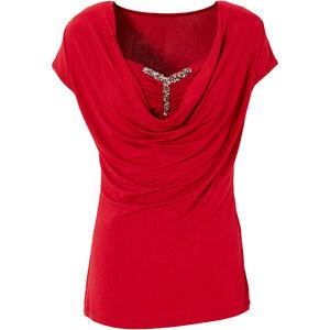 BODYFLIRT Shirt figurbetont in rot (Rundhals) für Damen von bonprix