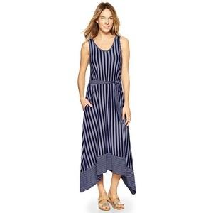 Gap Stripe Trapeze Midi Dress - Lavender stripe