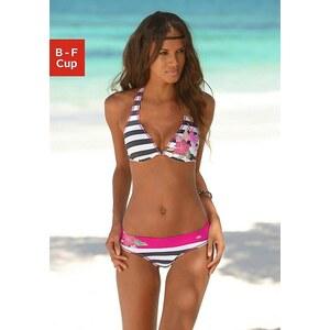 Bügel-Bikini-Top ´´Fun´´, Kangaroos, grau-weiß gestreift