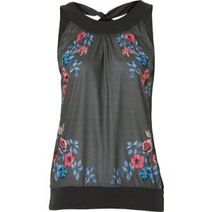 BODYFLIRT Shirttop ohne Ärmel in grau für Damen von bonprix